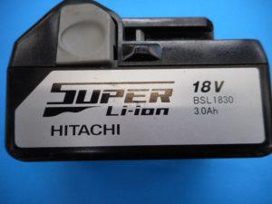 岡山店です。 岡山市のお客様から、日立 ヒタチ Hitachi 純正バッテリー 充電 電池 BSL 1830を買取りさせて頂きました。
