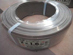 津山店です。 津山市のお客様から、富士電線工業 VVF ケーブル 2X1.6 資材を、買取らせて頂きました。