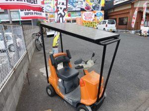 マスコットが変わった岡山店です。 岡山市のお客様から、ナショナル NAIS 電動カート シニアカー マイウォーク EZ4701を買取りさせて頂きました。