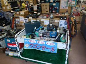 岡山店です。 岡山店でも、お世話に成ってばっかりですので、ワゴンセールをはじめました。