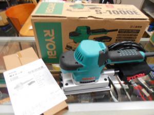 岡山店です。 岡山市のお客様から、リョービ プロ用 電子サンダ S-1000E を買取りさせて頂きました。