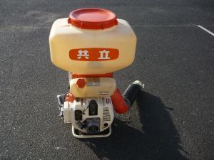 津山店です。 津山市のお客様から、共立 エコー 背負動力散布機 PD-451を、買取らせて頂きました。