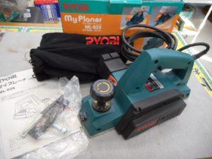 津山店です。 津山市のお客様から、リョービ ML-82S 電気かんな 中古を、買取らせて頂きました。