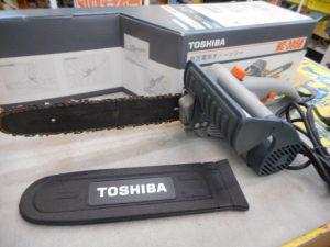 津山店です。 津山市のお客様から、東芝 電気チェーンソー HC-305Bを、買取らせて頂きました。