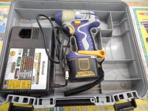 津山店です。 津山市のお客様から、ナショナル 充電インパクトドライバー EZ7202 バッテリー1個付を、買取らせて頂きました>