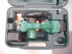 津山店です。 津山市のお客様から、日立 充電式丸のこ C6DC 充電器なしを、買取らせて頂きました。
