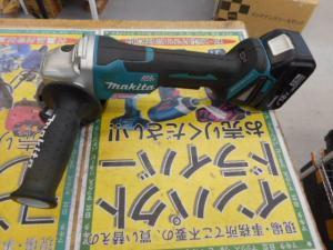 津山店です。 津山市のお客様から、マキタ 充電ディスクグラインダー GA408D 本体 バッテリー セット 中古品を、買取らせて頂きました。