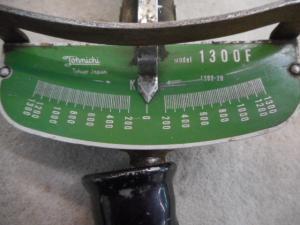 津山店です。 津山市のお客様から、トルクレンチ タイヤ ホイール キロ 交換 レトロ 針 中古品を、買取らせて頂きました。