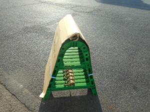 津山店です。 津山市のお客様から、サンコー バリケード 8Y2026 緑 10個 単管 未使用品を、買取らせて頂きました。