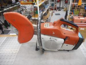 津山店です。 津山市のお客様から、スチール コンクリートカッター TS400 土木 建設 中古 ジャンク品を、買取らせて頂きました。