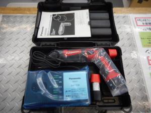 岡山店です。 岡山市のお客様から、パナソニック スティックインパクトドライバー EZ7521LA2S 赤 小型 ペン型 未使用品を、買取りさせて頂きました。