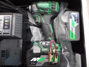 津山店です。 津山市のお客様から、日立 インパクトドライバー WH36DA 36V 緑 18V 未使用品を、買取らせて頂きました。