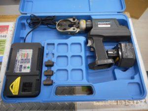 津山店です。 津山市のお客様から、泉精器  IZUMI  充電 油圧式 圧着工具 REC-150F  パンチャー  パンチセット  動作確認 中古品を、買取らせて頂きました。