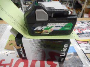 岡山店です。 岡山市のお客様から、日立工機  マルチボルト(36V)  リチウムイオン 電池  BSL36A18  保証付 インパクト 電動工具 新品 未使用品を、買取りさせて頂きました。