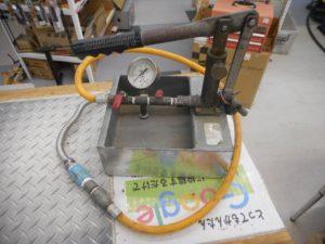 岡山店です。 岡山市のお客様から、テストポンプ 設備 水道 電気 土木 中古を、買取りさせて頂きました。