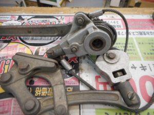 岡山店です。 岡山市のお客様から、内藤工業 自在張線器 シメラー 1000kg 引張り 工具 締め機 吊り機 中古品 を、買取りさせて頂きました。