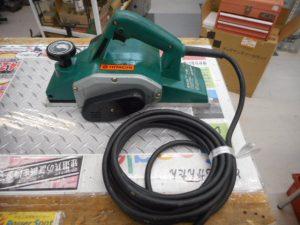 津山店です。 津山市のお客様から、日立 電気かんな カンナを、買取らせて頂きました。