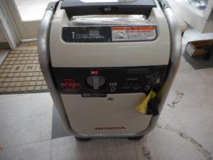 岡山店です。 岡山市のお客様から、 発電機  EU9iGB 100V ガス 中古品を、買取りさせて頂きました。