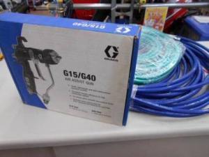 岡山店です。 岡山市のお客様から、 GRACO グラコ  エアーアシストガン G40 エアーホース2種セット 塗装 未使用を、買取りさせて頂きました。
