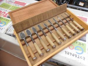 古い大工道具 ノミ のみ 清忠 10本セット 木工 加工 手作りケース 中古品