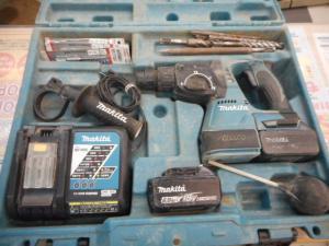 マキタ 充電式ハンマードリル HR244D ビット セット バッテリー 充電器 中古品