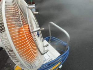 ミストファン CLJ-CSA-F 夏 工場 祭り 外 扇風機 カート式 新古品