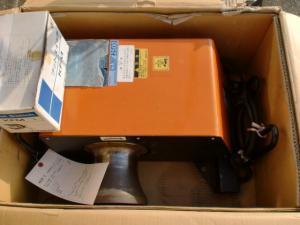 育良精機  ケーブル入線用 ウィンチ  フットスイッチ付 CW2500 大型 中古品