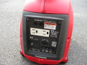 津山店です。 津山市のお客様から、ホンダ インバーター発電機 EU9i 小型 持ち運び 中古品 を、買取らせて頂きました。
