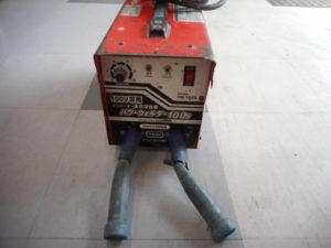 津山店です。 津山市のお客様から、パワーウェルダー 100S PW-100S 溶接機 アーク 通電 小型 軽量 中古品を、買取りさせて頂きました。