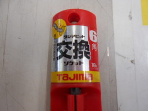 岡山店です。 岡山市のお客様から、タジマ 交換ソケット BS1721-6K 未使用品 を、買取りさせて頂きました。