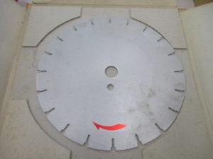 津山店です。 津山市のお客様から、アサヒ ダイヤモンドホイール コンクリート 替え刃 サイズ 新品 未使用品 を、買取りさせて頂きました。