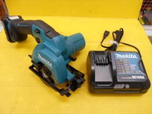 岡山店です。 岡山市のお客様から、 マキタ 85mm充電式マルノコ HS301D 充電器、バッテリーセット 中古扱い品を、買取りさせて頂きました。