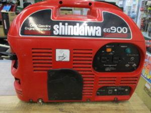 津山店です。 津山市のお客様から、新ダイワ 発電機 EG900 通電 エンジン 中古品 を、買取りさせて頂きました。