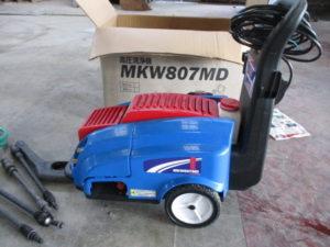 丸山 高圧洗浄機 MKKW807MD 高圧 洗車 付属品多数 通電確認 現状 美品 中古品