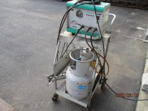 デンゲン 冷媒ガス回収装置 ボンベ搭載 CS-RF50YD 中古品 現状