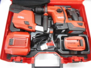 HILTI 充電式ロータリーハンマードリル TE 6-A22 P2/5.2Ah DRS コンボ バッテリー2個 充電器 集塵パーツ 未使用品