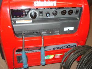 やまびこ 新ダイワ 防音型ガソリンエンジン溶接機 EGW150MD-I キャプタイヤ付き