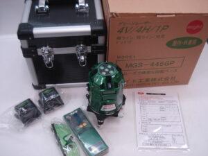マイト レーザー墨出し器 MGS-445GP グリーン 受光器 バッテリー 保護メガネ ケース セット 未使用品