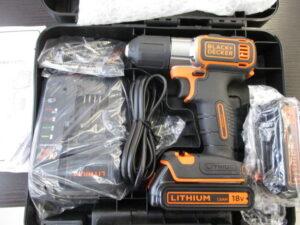 B&D オートマチックドリルドライバー 充電式 バッテリー 充電器 セット 小型 未使用品